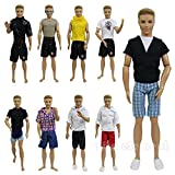 ZITA ELEMENT LOT 5 pcs Fashion SUMMER Beach Casual Wear Clothes /outfit for Barbie's BoyFriend Ken Doll + 1 SunGlass