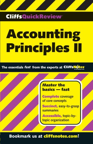 CliffsQuickReview Accounting Prin II (Cliffs Quick Review (Paperback)) (Bk. 2) -