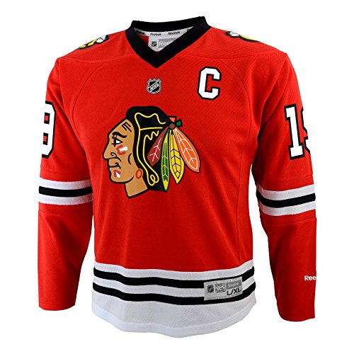 Outerstuff NHL Chicago Blackhawks Youth Boys 8-20 Toews J Blackhawks Player Replica Jersey, Large/X-Large, Red