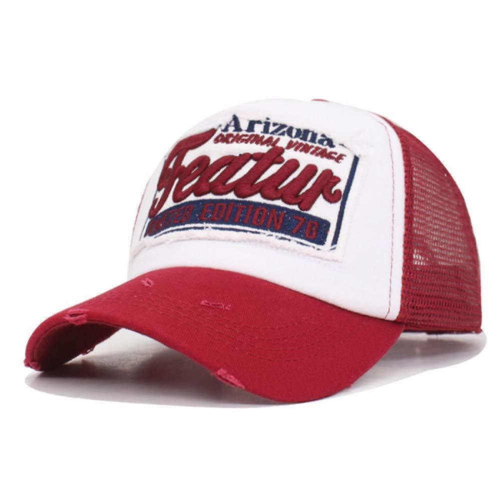 298fe04e5 Wine red JINRMP Baseball Cap Women Snapback Caps for Men Mesh Summer ...