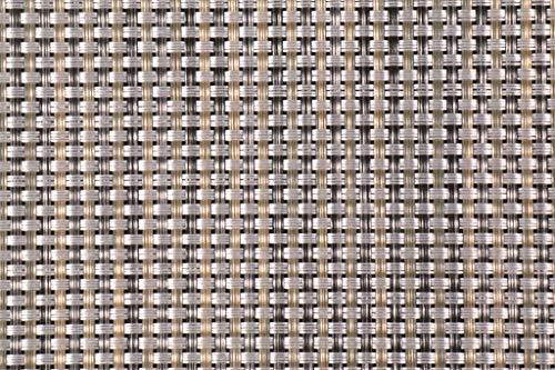 Phifertex PVC Wicker Weaves - Cane Wicker Aluminum Fabric - by the Yard (Fabric Aluminum Woven)