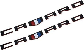2x camaro Emblem Badges 3D Letter for Silverado Camaro RS Chevy Redline Chrome