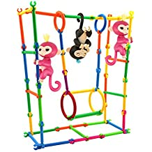 Baby Monkey Toy Stent, FanXing DIY Building Playset Interactive Baby Monkey Climbing Stand for Monkey Mia (40pc)