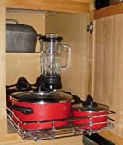 Shelf on Wheels 89 Expandable Roll-Out Wire Cabinet Shelf