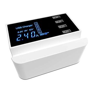 YTBLF Multi-Puerto USB Cargador De Teléfono Móvil 4 Puertos ...