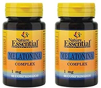 Melatonina 1 mg. complex 60 comprimidos con pasiflora, amapola californiana,melisa, tila y valeriana (Pack 2 u.): Amazon.es: Salud y cuidado personal