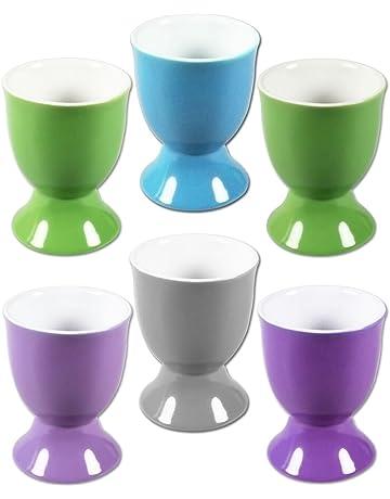 COM-FOUR® Huevera de cerámica en diferentes colores.