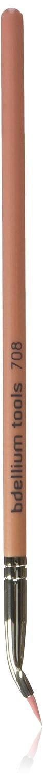 Bdellium Tools Professional Makeup Brush Pink Bambu Series Bent Eyeliner 708, 1 Count BD-PBAMBU-708