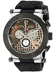 MULCO Unisex MW3-13403-023 Era Analog Display Swiss Quartz Black Watch