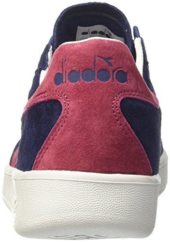 Diadora B.Elite Nub, Sneaker Uomo Blu (Blu Estatevla Bottle Di Vino)