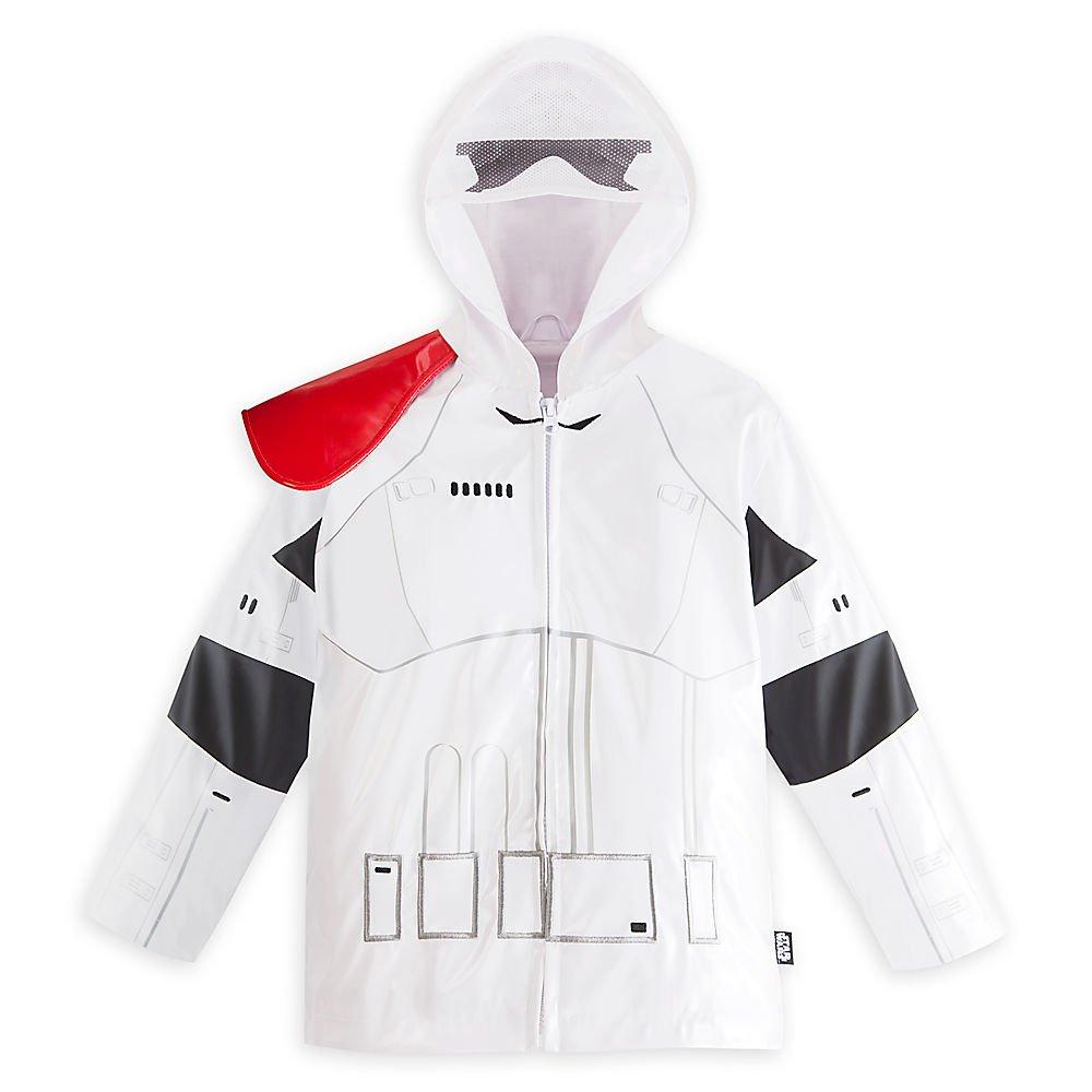 Disney Store Star Wars Stormtrooper Rain Jacket/Raincoat Size Small 5/6 (5T)