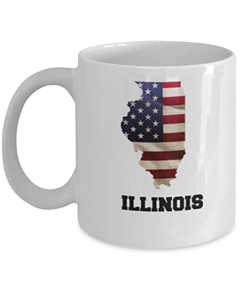 Amazon I Love Illinois Coffee Mugs Coffee mug sets 11 Oz