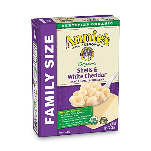 Annie's Organic Family Size Shells & White Cheddar Macaroni & Cheese, 6 Boxes, 10.5oz  (Pack of ()