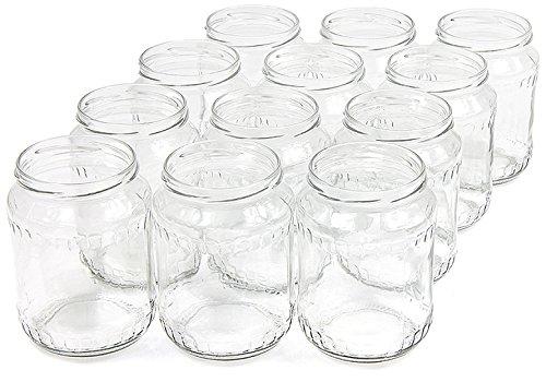 720 ml Einweckgläser mit Deckel gold Einmachgläser Vorratsgläser Einmachglas Weck (Menge: 16 Stück)