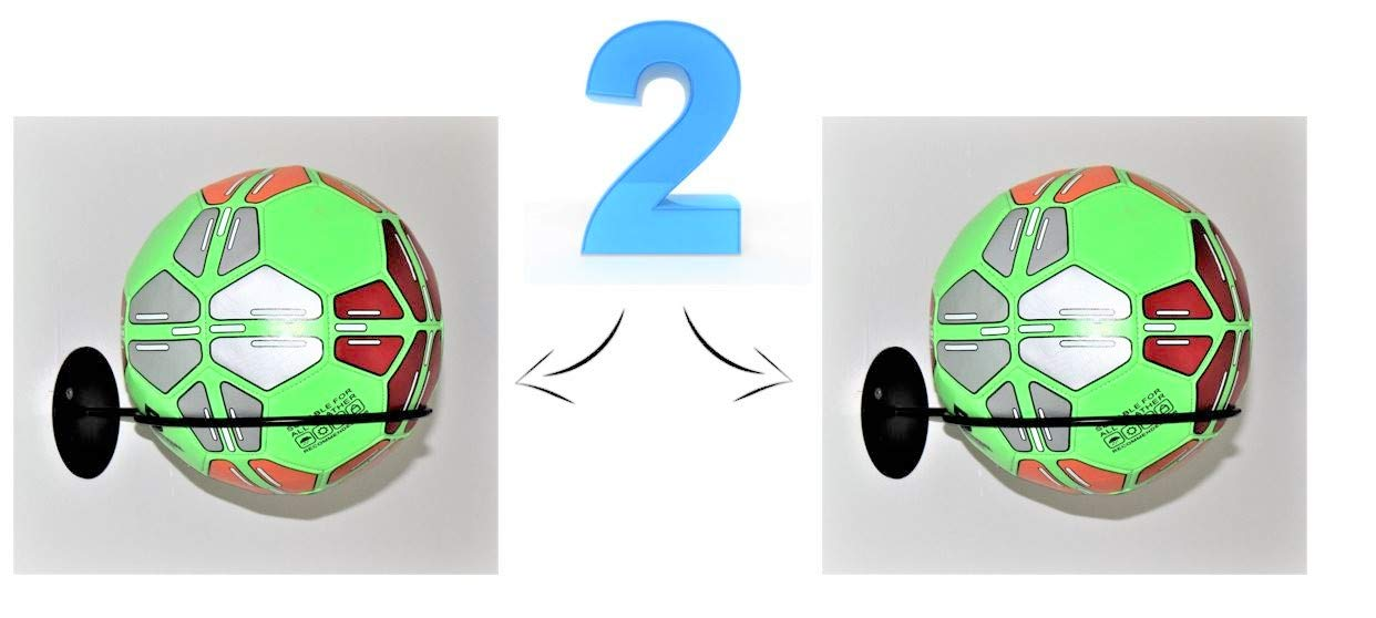 Place-Art. Sports Ball Holder & Organizer - New Heavy Duty, Wall Mount Ball Holder Rack Storage. (Set of 2) by Place-Art.