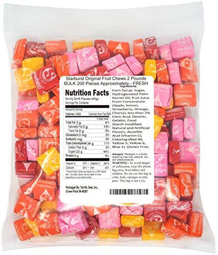 Starburst Original Fruit Chews 2 Pounds BULK 200 Pieces Approximately - FRESH]()