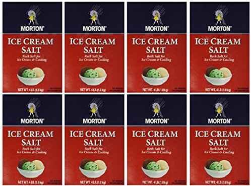 Morton Ice Cream/Rock Salt, 4-Pound (Pack of 8) Morton Ice Cream Salt