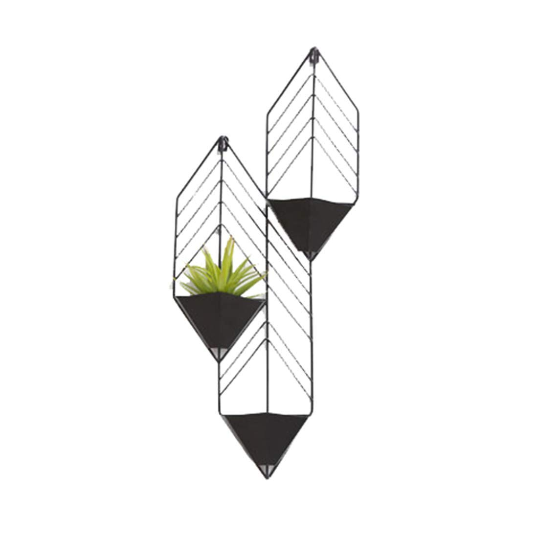 ZHILIAN® Kreative An Der Wand Befestigte Metallschmiedeeisen-Blaumenstandplatz Einfache Europäische Schwarz Orange Rote Familienwohnzimmerschlafzimmer-Multifunktionsgestell ( Farbe   Schwarz) Schwarz