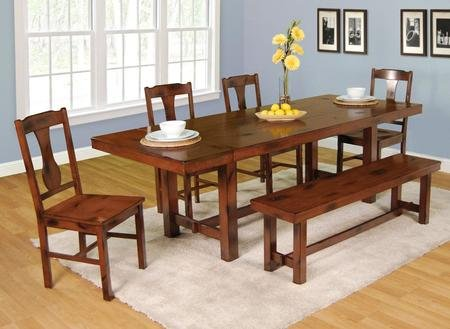 Wood Antique Dining Table - 5