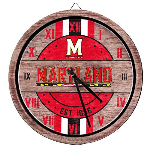 FOCO Maryland Terrapins NCAA Barrel Wall Clock