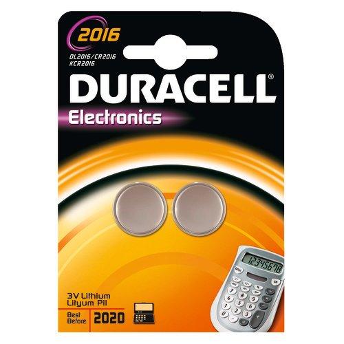 Duracell Pilas Botón Litio CR2016, Paquete Doble 5299938)