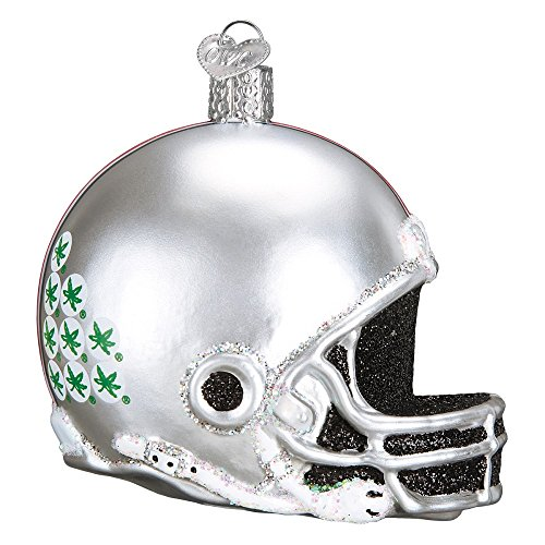 Old World Christmas Collegiate Football Helmet Ornament (Ohio State) (Football Athletics State Ohio)