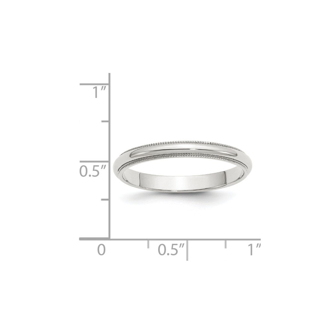 ICE CARATS 925 Sterling Silver 3mm Half Round Milgrain Size 7.5 Wedding Ring Band Classic Fine Jewelry Ideal Gifts For Women Gift Set From Heart by ICE CARATS (Image #2)