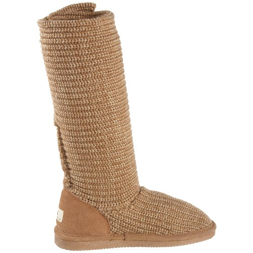 Bearpaw Mid Knit Wool Calf Chestnut Tall Boot Women's wtrqUt