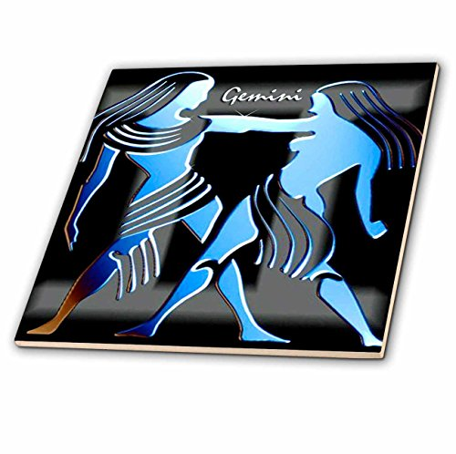 3dRose ct_920_1 Gemini Zodiac Sign Ceramic Tile, 4-Inch