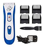 Professional Electric Cat and Dog Clipper Cordless Low Noise Rechargeable Pet Grooming Trimmer Kit, IPX7 Waterproof