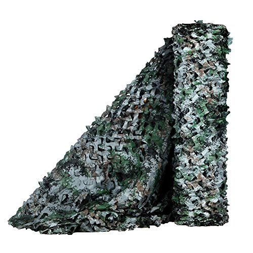 LOOGU Camouflage Net for Photography Background Decoration Hunting Blinds (Woodland Digital, 1.5x10M=5x32.8ft)