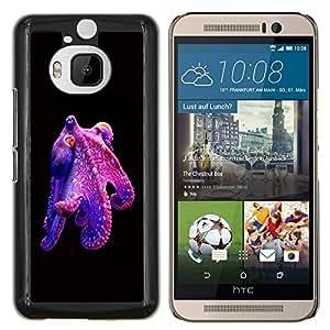 Dragon Case - FOR HTC One M9+ / M9 PLUS - octopus purple kraken monster diving - Caja protectora de pl??stico duro de la cubierta Dise?¡Ào Slim Fit