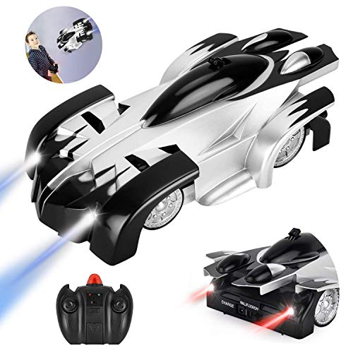 GotechoD Remote Control Car Gravity Defying RC Car for Kids 360°Rotating Stunt Vehicle Racing Car with LED Lights