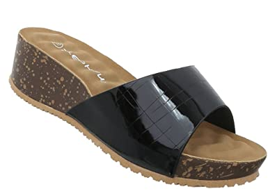 Damen Schuhe Sandaletten Keilabsatz Wedges Plateau