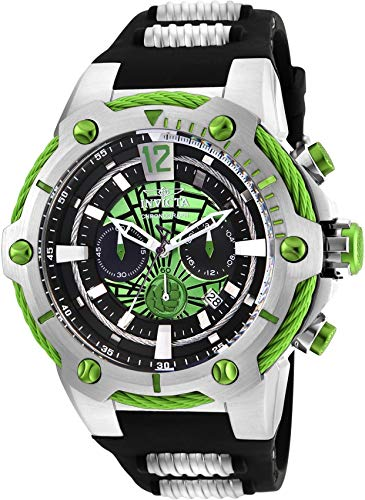 - Invicta Men's 25985 Marvel Quartz Chronograph Green Dial Watch