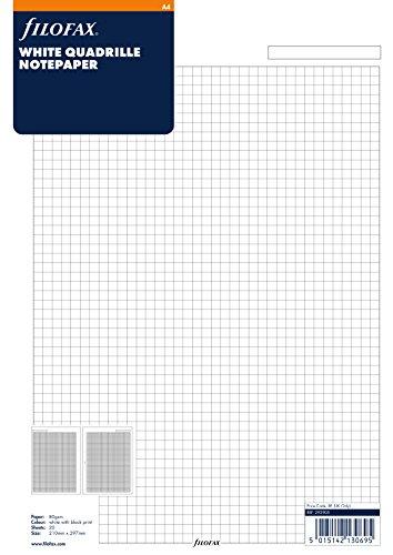 Filofax A4 White Quadrille Notepaper ()