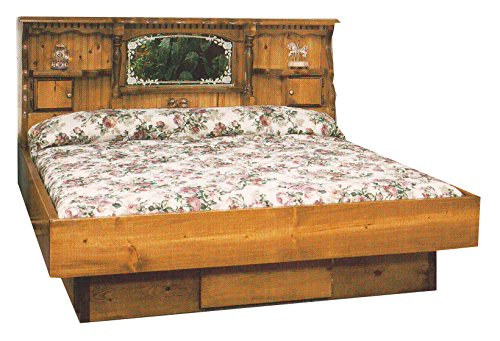 Pine Waterbeds (Strobel Organic Lincoln Complete Waterbed Premium Solid White Pine Walnut Finish King)
