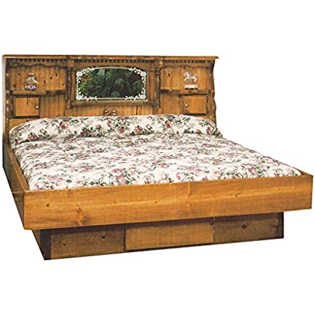 Strobel Organic Lincoln Complete Waterbed Premium Solid White Pine Unfinished King