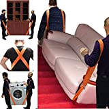 Thenewallhere Adjustable Shoulder Lifting,Carrying and Moving Straps for Furniture Appliances Etc.Best Weight Moving Lifting Carrying Straps for 2-Man/Women Movers Easily Secure to Lift Heavy Objects
