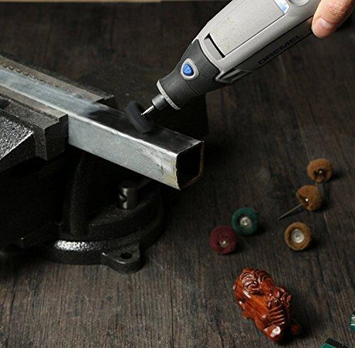 Rocaris 1'' (25mm) Black 300 Grit Abrasive Buffing Polishing Wheels Burr For Proxxon Dremel Rotary Tools-1/8''(3mm) Shank Pack of 50Pcs by Rocaris (Image #5)