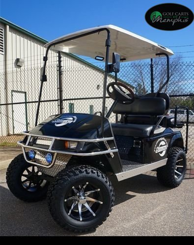EZGO TXT Electric Golf Cart 2001-Newer 6'' Lift Kit + 12'' Wheels and 23'' All Terrain Tires (4) by Golf Cart Tire Supply (Image #1)
