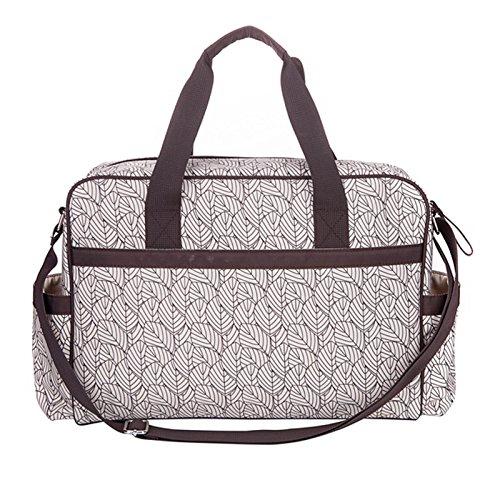 Allis Bolso cambiador Fashion–Bolso para pañales bolso cambiador (crema/marrón)