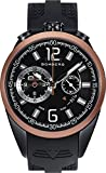 Bomberg 1968 Black Dial Mens Chronograph Rubber Watch NS44CHTT.0092.2