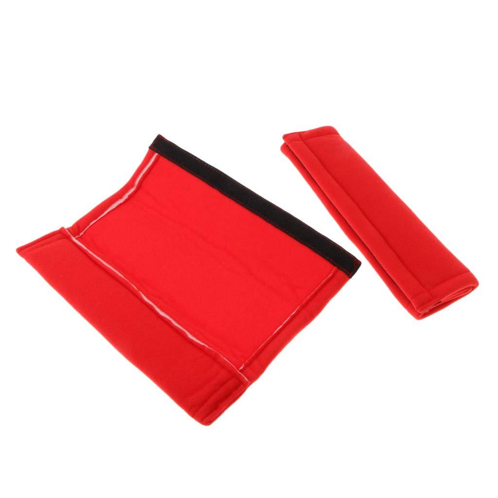 kesoto 2X Seat Belt Shoulder Strap Pad Headrest Neck Support Pillow Cover Cushion Black