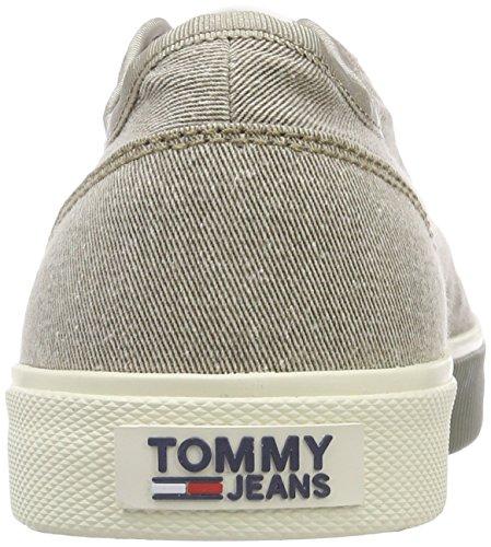Zapatillas Jeans Cobblestone Sneaker Tommy Textile para Beige Urban Hombre 068 Tj dwnHqX