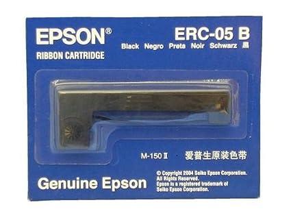 Epson C43S015352 - Cinta de nilón para Epson ERC 05, Negro: Amazon ...