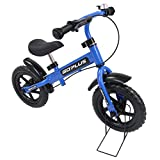 Goplus 12″ Kids Balance Bike, No Pedal Bicycle w/Adjustable Bar and Seat, Bell Ring, Stand, Brake, Fender for Ages 3 to 6 Years, Pre Bike Push Walking Bicycle