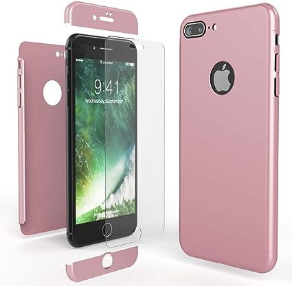 NALIA Custodia Integrale compatibile con iPhone 7 Plus, Cover Protettiva Fronte e Retro & Vetro Temperato, Case Rigida Protezione Telefono Cellulare ...