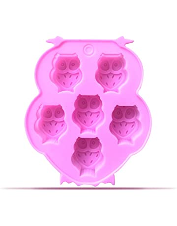 outflower 6 también búho molde de silicona de modelaje molde de creativa con chocolate con Galleta