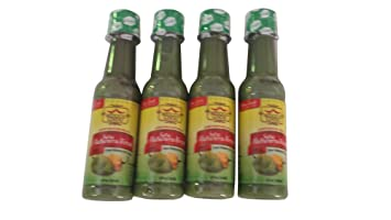 Set of 4 Gourmet Castillo Mexico Lindo Hot Sauce Salsas: Habanera Verde (5 oz